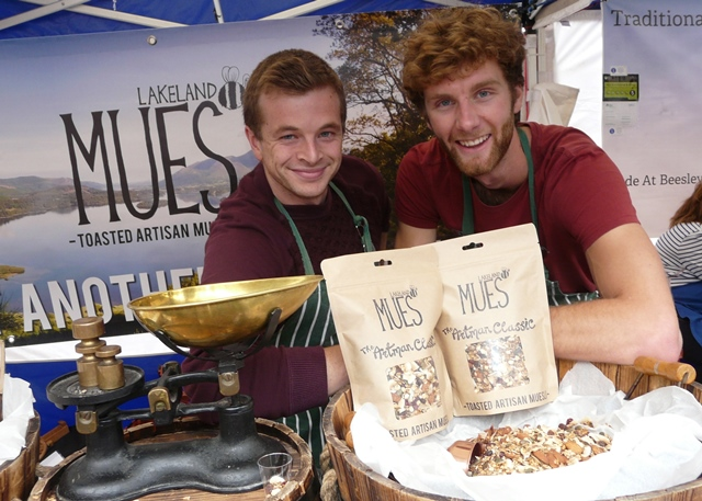 Cereal thrillers Tim and Luke at Taste Cumbria